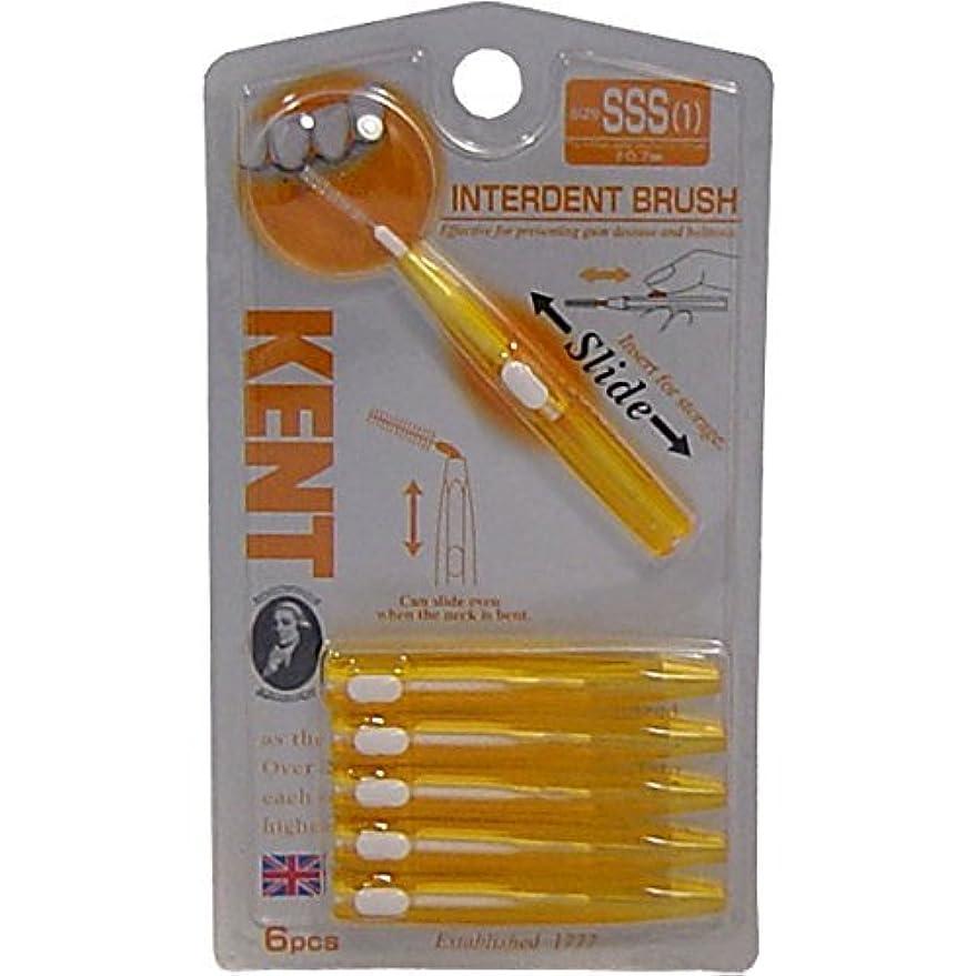 好戦的な安全な抜粋KENT(ケント)歯間ブラシ SSSサイズ 6本入×8個セット