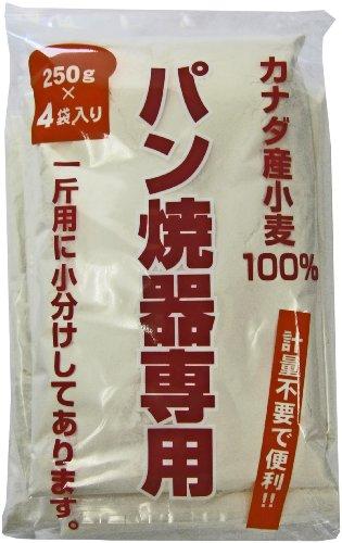 パイオニア企画 カナダ産小麦100% パン焼器専用粉 4袋入 1000g