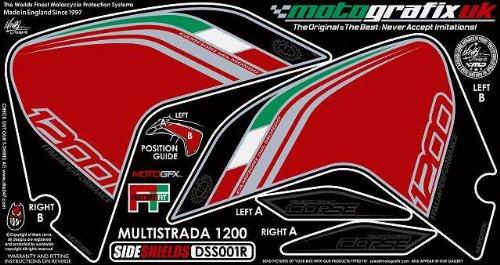 MOTOGRAFIX(モトグラフィックス) ボディーパッド DUCATI MULTISTRADA1200(10-) SIDE SHIELDS レッド/トリコローレ MT-DSS001R