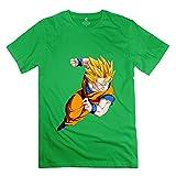 PUMA スポーツ AOPO Dragonball Z Super Saiyan God Goku OネックTシャツメンズの