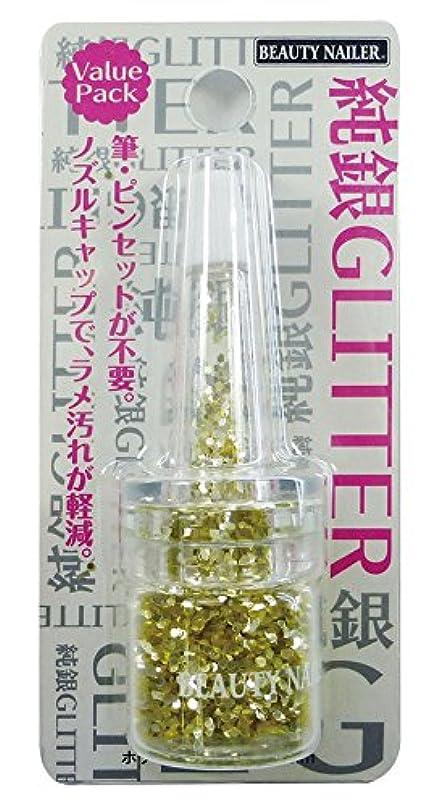 ビューティーネイラー ネイル用パウダー  純銀グリッター ホワイトゴールド SGP-13