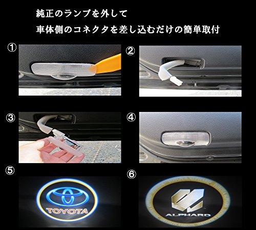 カーテシランプ CREE LED ロゴライト トヨタ サイ SAI 配線不要 送料無料 76*