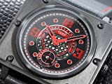 日用品 メンズ 変則カレンダー 自動巻き 腕時計 C48-RD