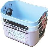 錦化成 収納 ケース ミニーマウス ミニやわらかバケツ 3色セット(ピンクベージュ/ライトブルー/ホワイト)