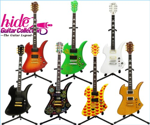 hide Guitar Collection The Guitar Legend ギター フィギュア メディアファクトリー(ノーマル7種セット)