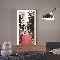 Star Moon Moo ドア用のステッカー 都市の路線 壁飾り 壁紙 オシャレ 壁飾り ステッカー
