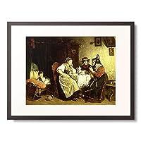 ルドルフ・エップ Epp, Rudolf 「Beim Kaffeeklatsch. 1887.」 額装アート作品