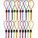 Kuqqi 10 Sets Cord Strap Kit,Adjustable Replacement Swimming Goggle Strap with Cord Lock Clamp for Swimming Supplies,10 Colors