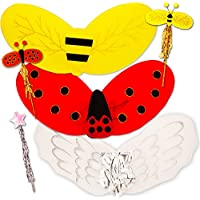 Fairy Wings for Girls ( Set of 3 – Angel、てんとう虫、Bumble Bee Wings )。。。