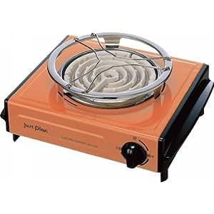 イズミ 電気コンロ IEC-105 オレンジ