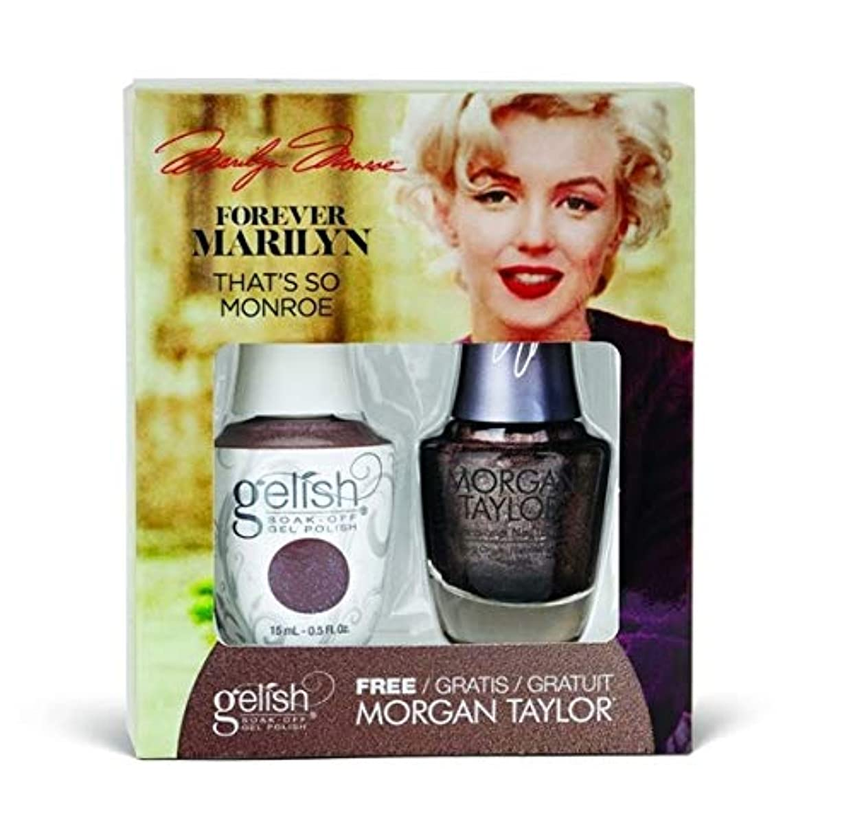 故意の広告主気絶させるHarmony Gelish - Two of a Kind - Forever Marilyn Fall 2019 Collection - That's So Monroe - 15ml / 0.5oz