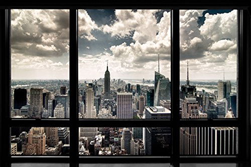 RoomClip商品情報 - ポスター ニューヨーク ウインドウ PP-32627