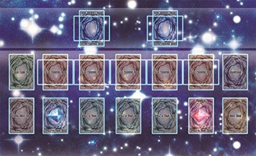 おもちゃの神様 遊戯王 新マスタールール プレイマット ラバーマット リンク召喚 EXゾーン 対応 (60×35cm スタンダード(収納袋付き))