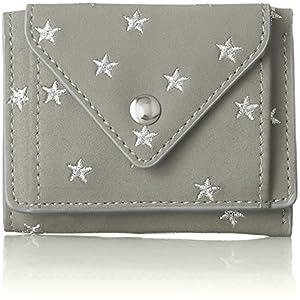 [レガート ラルゴ] 折り財布 星刺繍 3ツ折ミニ財布 LU-M0861 LGY ライトグレー