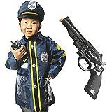 sac taske 子供 警察 ハロウィン 衣装 6点 セット キッズ 警官 ポリス コスチューム (子ども 警察官 仮装)