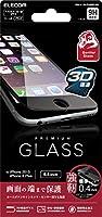 ELECOM iPhone 6s Plus/6 Plus 液晶保護ガラスフィルム [3D touch ゴリラガラス0.4mm 最高硬度9H ラウンドエッジ加工] ブラック  PM-A15LFLGGFLBK