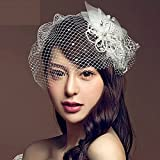 Auralum ヘッドドレス 髪飾り 結婚式 花かんむり 花嫁 ウエディング ヘッドドレス Lサイズ
