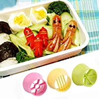 3ピースポータブルキッチンクッキングツール食品フルーツ卵ハムソーセージストロベリーバナナプラスチックスライサー