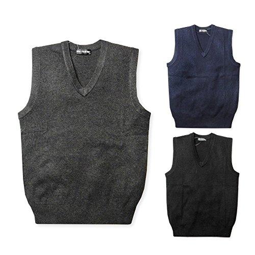 [해외]남성 V 넥 니트 베스트 머리 혼 세탁기로 빨 워샤부 ??신사/Men`s V neck knit vest hair washable washable gentleman