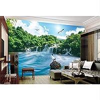 Mingld 森の滝カスタム自然の壁紙3Dルームの壁紙風景不織布E絵画壁紙-120X100Cm
