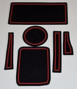 KINMEI(キンメイ) ホンダ・S660 赤 専用設計 インテリア ドアポケット マット ドリンクホルダー 滑り止め ノンスリップ 収納スペース保護 ゴムマット エスロクロクマルs660-r