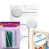 LorAnn Lollipopハードキャンディ/チョコレート金型Bundle–Includesクイックスタートガイド+ 25Lollipopバッグ+ 25+ツイストタイ25Lollipop Sticks + 1金型シートラウンド大