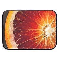 カスタムラップトップスリーブ13/15インチタブレットジッパーブリーフケースグレープフルーツプリントポータブルメッセンジャーバッグ、13インチ