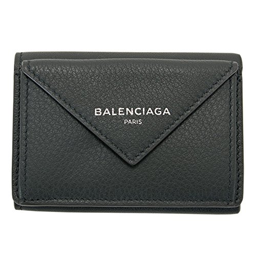 バレンシアガ BALENCIAGA 財布 三つ折り財布 ミニ財布 レディース ペーパー ミニウォレット グレー 391446 DLQON 1110 スマートウォレット 薄型 薄い [並行輸入品]