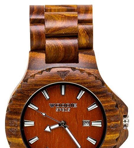 ハンドメイドメンズSolid Wood Watch Made...