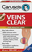 Carusos Natural Health Veins Clear 60 Tablets