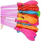 YOKEL 水風船 水爆弾 水爆弾ボール 111個 水を入れて投げ合う 暑い夏の水遊びに 子供玩具 マジックバルーン 60秒以内に一気に膨らませて縛る カラフル おもちゃ 交換用 イベント用品 ホースアダプター付き