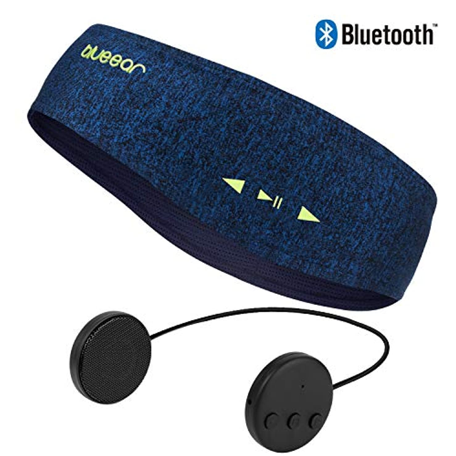 炭素二層差し迫ったBlueear Bluetooth Headband V4.2ブルートゥース音楽運動ヘッドバンド ワイヤレスイヤホンスカーフ 8時間音楽放送 通話機能付き アウトドアスポーツに適用する ジョギング ハイキング 山登り ヨガ スケート フィットネス 各シーズンに適合する