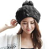 (シッギ)Siggi かわいい リブ ケーブル ウール ニット 婦人 帽子 ベレー帽 レディース 冬 大きいサイズ ガールズ 黒