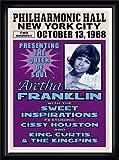 ポスター アレサ フランクリン アレサ フランクリン、ニューヨーク、1968 額装品 ウッドハイグレードフレーム(ブラック)