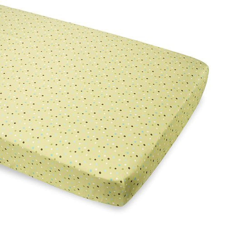 Summer Infant Breathe Easy Baby Crib Sheet - Sage Multi Dots by Summer Infant [並行輸入品]