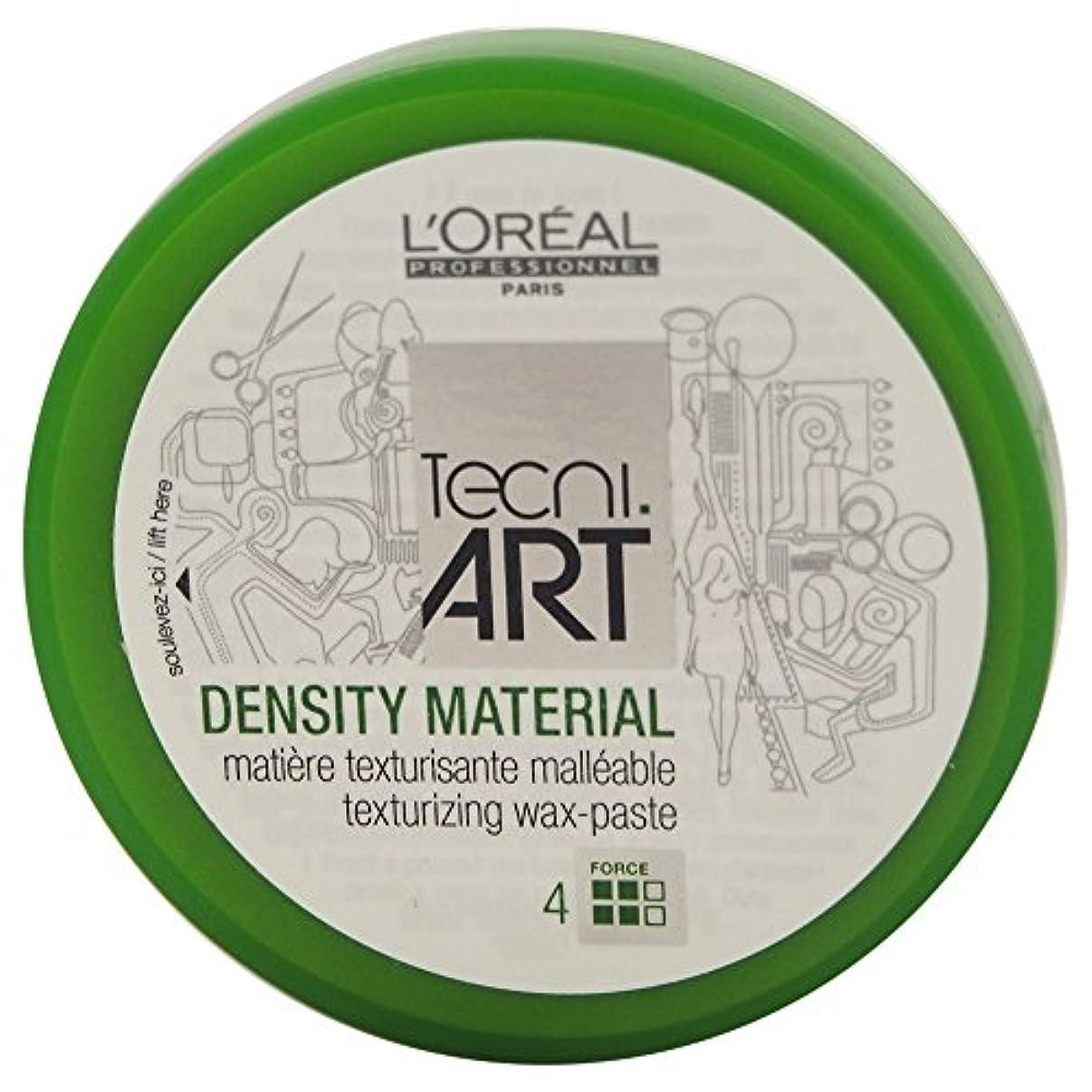 蓄積するちょうつがい薄いですLoreal Tecni Art Density Material Force 4 Texturizing Wax Paste 100ml [並行輸入品]