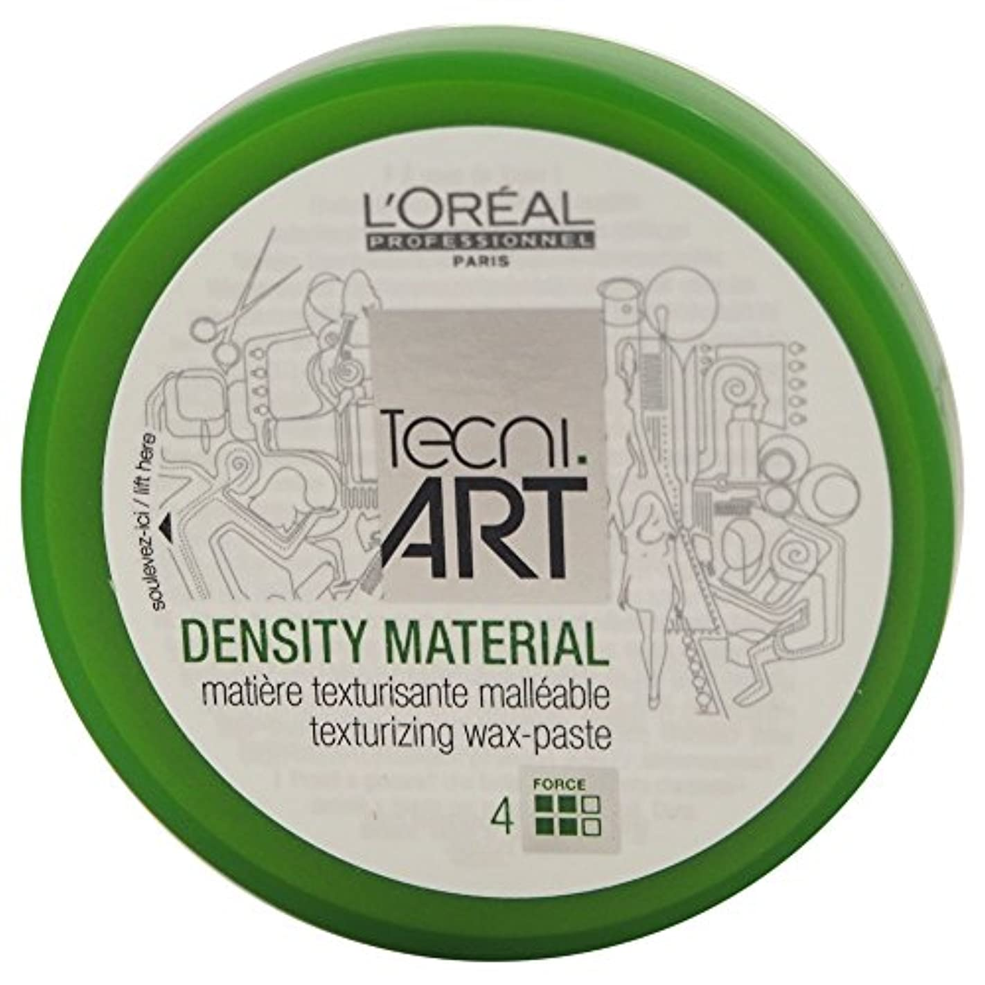 多様性召集するLoreal Tecni Art Density Material Force 4 Texturizing Wax Paste 100ml [並行輸入品]