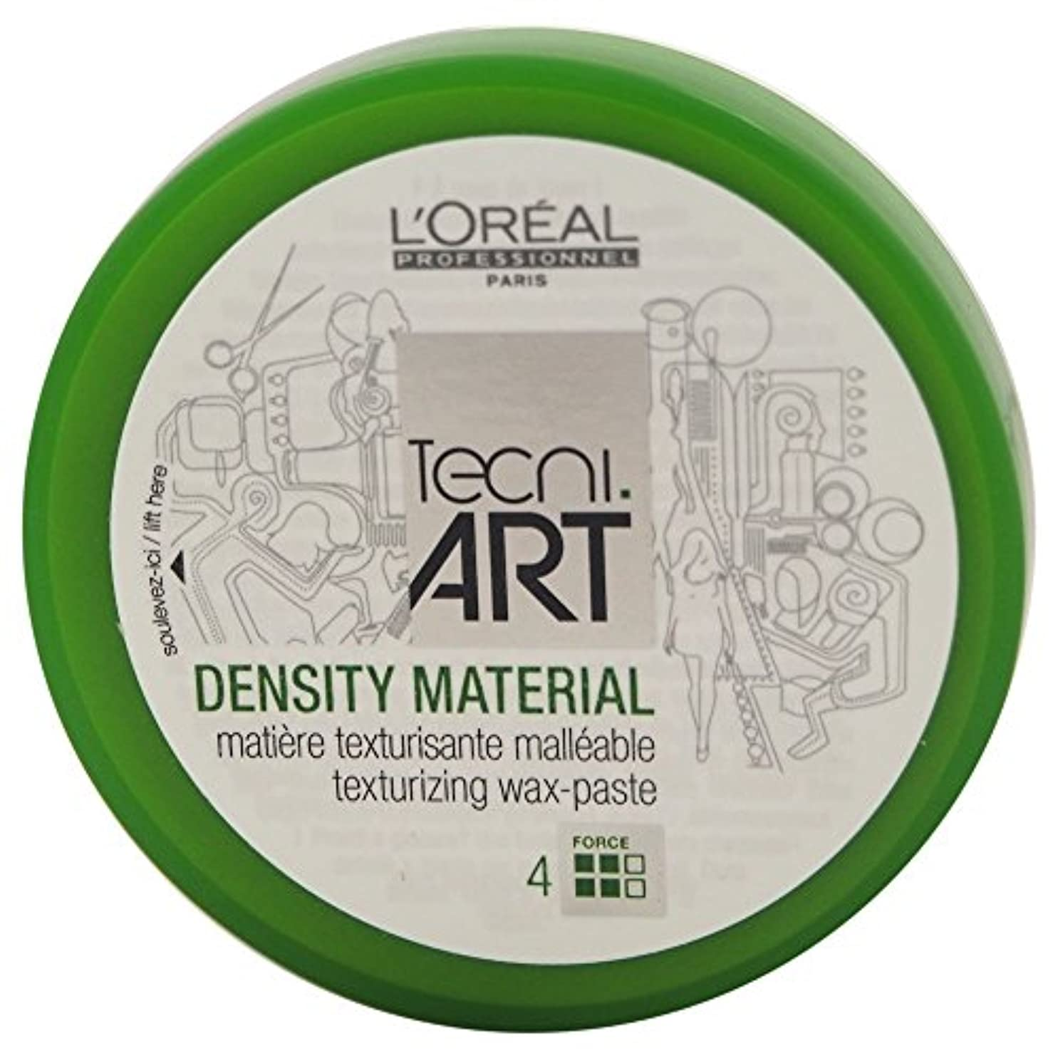 セータージュース増幅Loreal Tecni Art Density Material Force 4 Texturizing Wax Paste 100ml [並行輸入品]