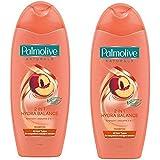 Palmolive Naturals Shampoo & Conditioner パルモティブシャンプーWコンディショナー ハイドロバランス 350ml 2個 [並行輸入品]