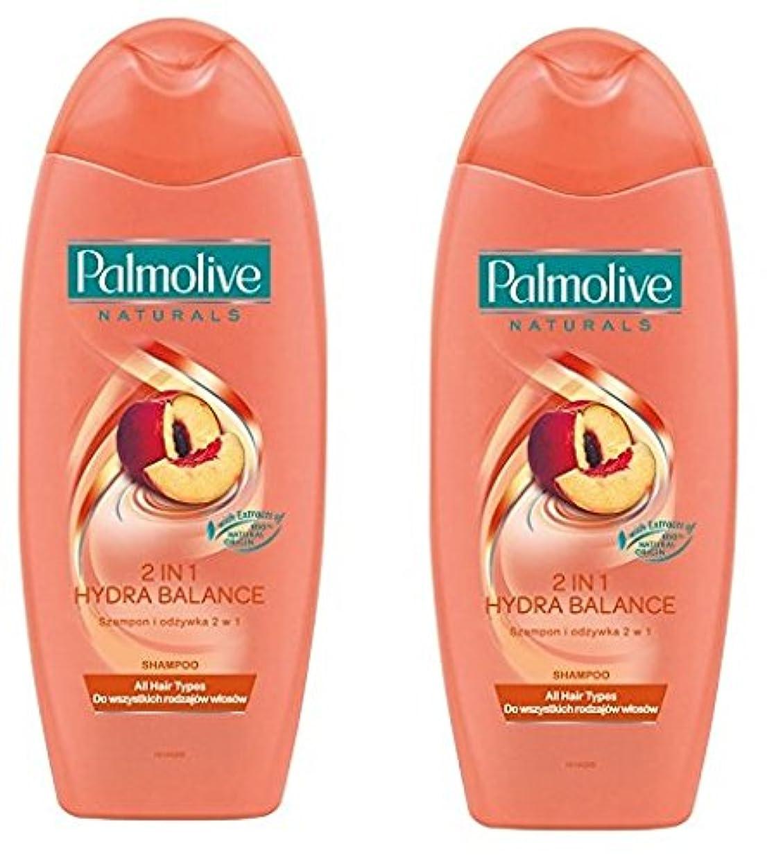 スリチンモイコンパクト維持Palmolive Naturals Shampoo & Conditioner パルモティブシャンプーWコンディショナー ハイドロバランス 350ml 2個 [並行輸入品]