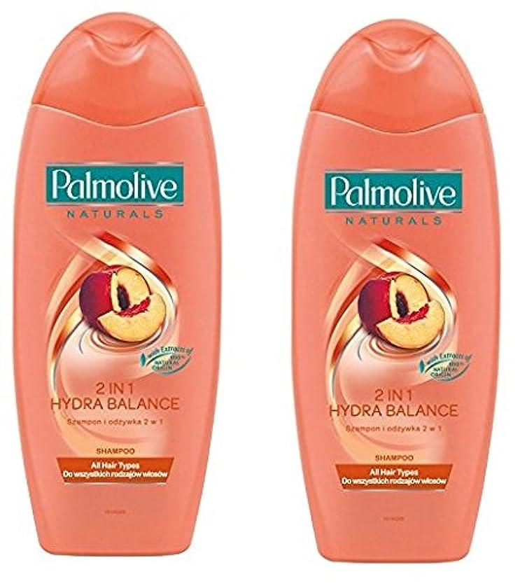 夢中マイクヒップPalmolive Naturals Shampoo & Conditioner パルモティブシャンプーWコンディショナー ハイドロバランス 350ml 2個 [並行輸入品]