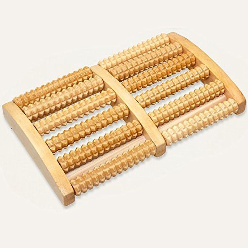 重要なペニー側面足もみ ツボ押し グッズ 6列 木製 足ふみ フットローラー リラクゼーション 健康グッズ あしつぼ ストレスマッサージ ウッド 足裏 マッサージ 足むくみ解消 血行促進 フットマッサージ器 原色