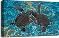 Baby Sea Turtlesで水ギャラリーWrappedキャンバスアート 20in. x 30in.