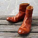【PADRONE/ パドローネ 】 バックジップ ブーツ キャメル 41 ( 26.5 - 27.0cm ) [PU7885-1101-11C]