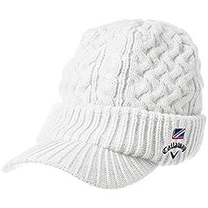(キャロウェイ アパレル)Callaway Apparel 定番 ツバ付き ニットキャップ ( ワンポイントロゴ入り ) 帽子 ゴルフ / 247-7284603 [ メンズ ] 247-7284603 30 ホワイト FR