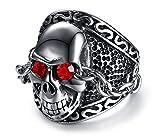Best 友達ジュエリーCheaps - YIKOXI ハロウィンギフトチェーンデザイン ゴールドスカルヘッドリング ステンレススチールリング メンズ サイズ8 – 12 Review