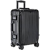 Pananaスーツケース キャリーケース 機内持ち込み 小型大型アルミフレーム TSAロック搭載 ベルトフック付き 鏡面仕上げ 人気旅行軽量