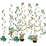 KESOTO 約12枚 渦巻き クローバー バナー パーティー デコレーション 飾り付けセット