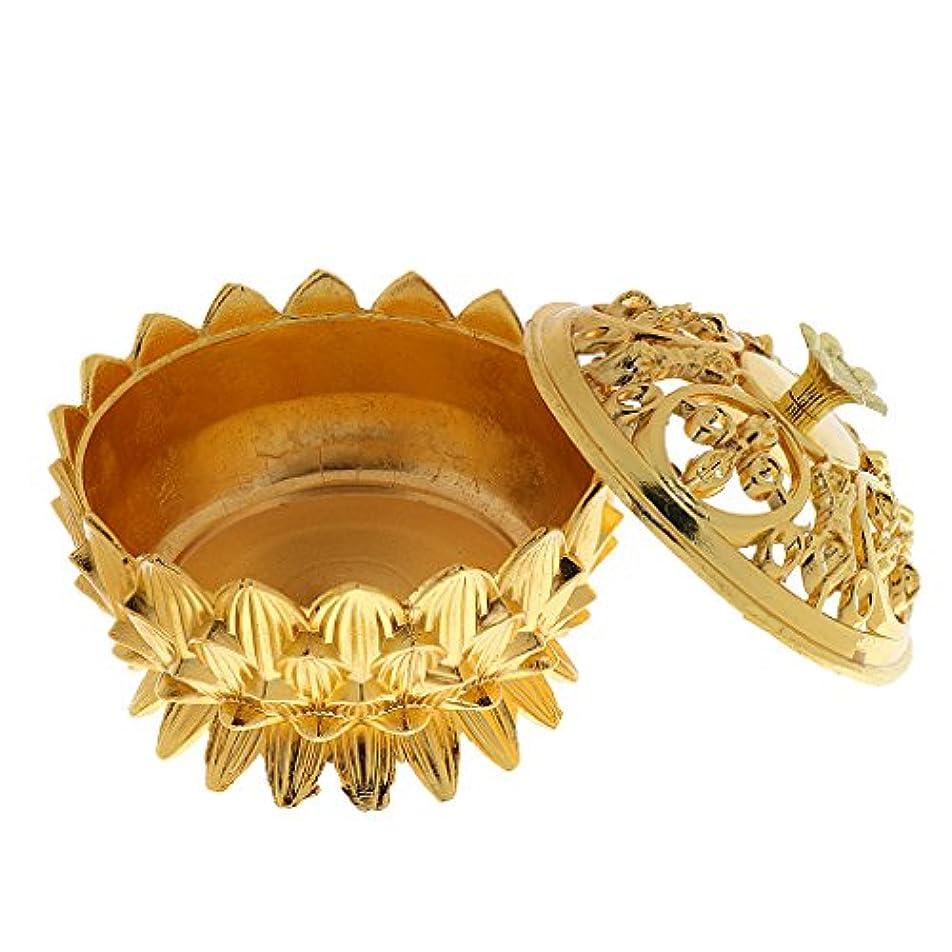 絶壁結婚中に合金 ロータス 香炉 バーナー コーンホルダー 仏教 家 装飾品 全3選択 - #3