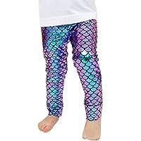 Toddler Baby Girls Mermaid Fish Stretch Leggings Pants Tights